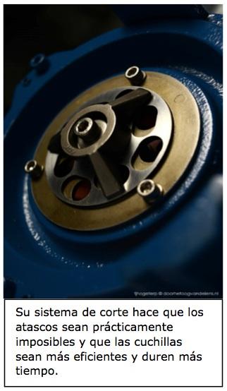 Eficacia bombas trituradoras cortadoras